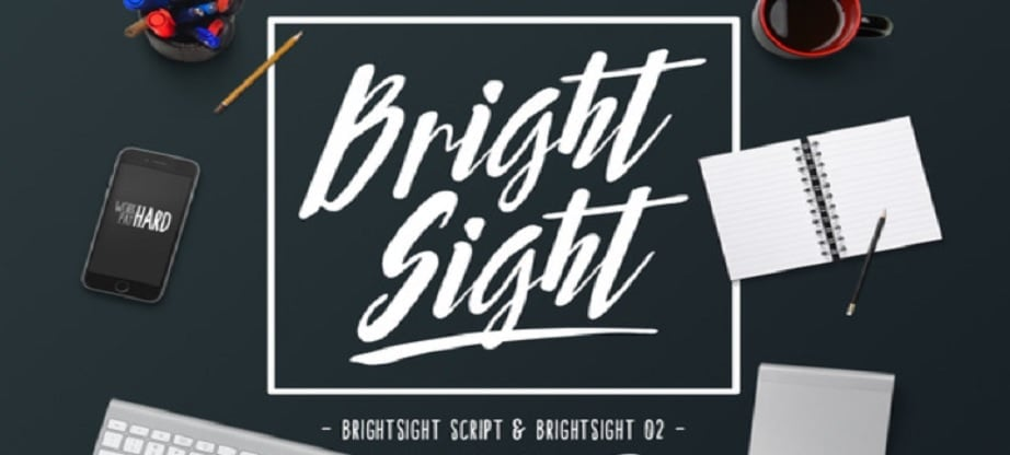 Bright Sight Handwritten fonts 2017