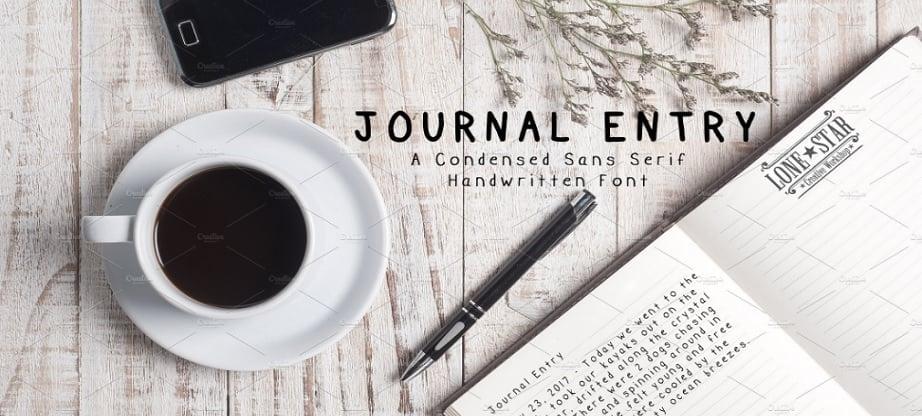 best handwritten fonts 2017 - Journal Entry