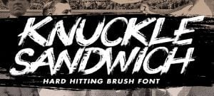 Knuckle popular handwritten fonts 2017