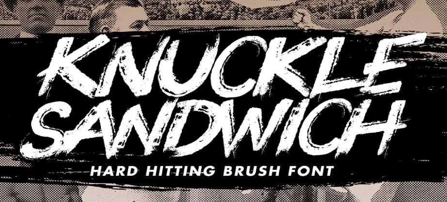 Knuckle popular handwritten fonts 2017