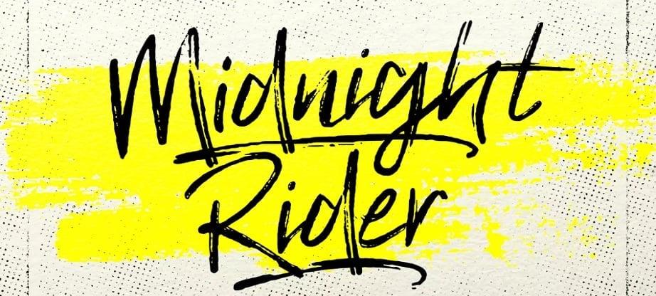 best handwritten fonts 2017 Midnight Rider
