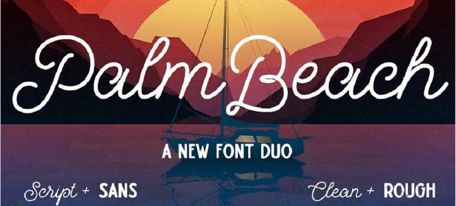 best handwritten fonts Palm Beach