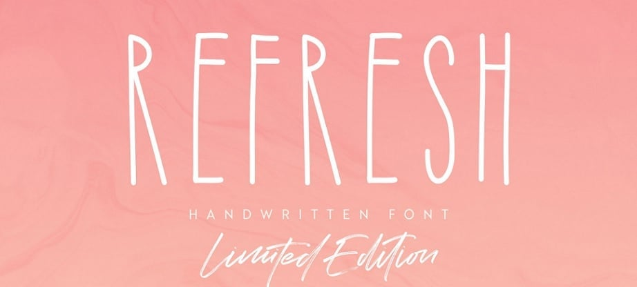 Refresh best handwritten fonts 2017