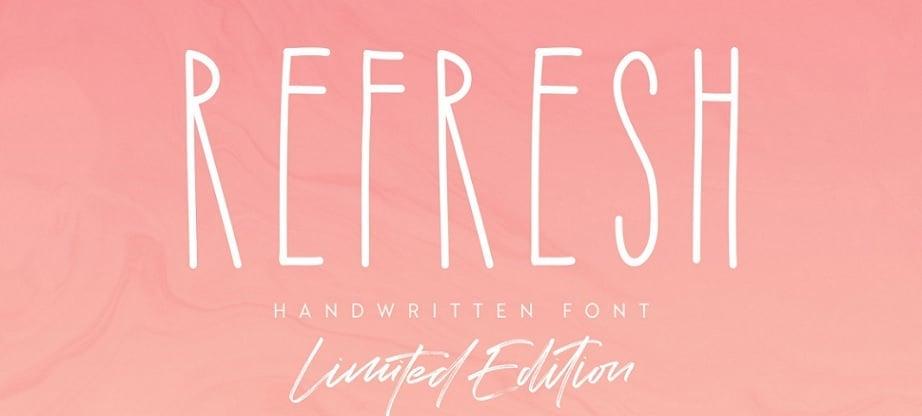 Refresh best handwritten fonts 2017