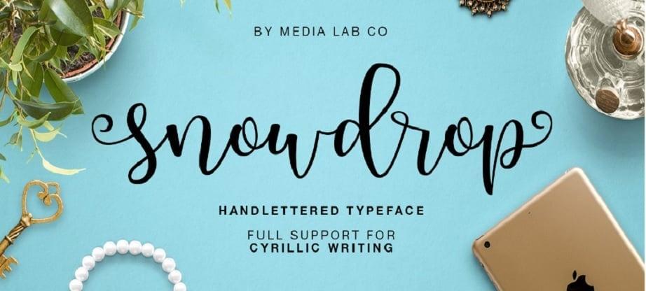 Snowdrop - Best Handwritten Fonts 2017