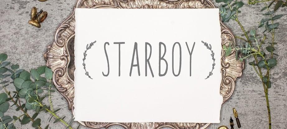 Starboy best handwritten fonts collection