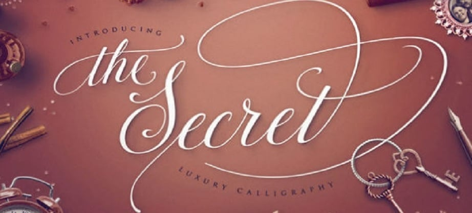 Calligraphy fonts - The Secret