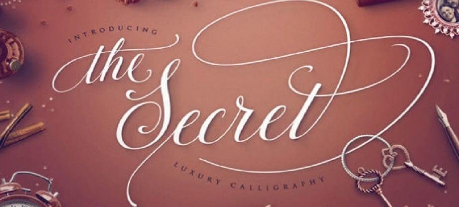 Calligraphy fonts - The Secret