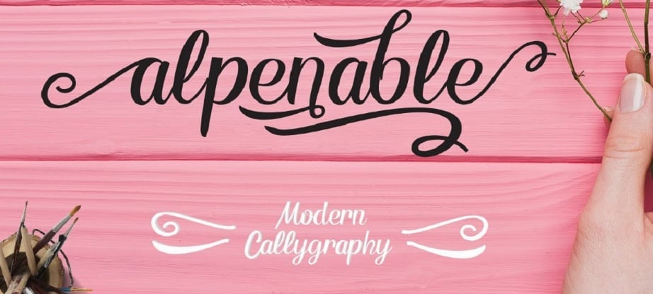 Handwritten fonts 2017 - alpenable