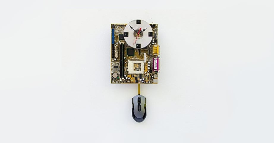 Gifts for web developers - motherboard clocks