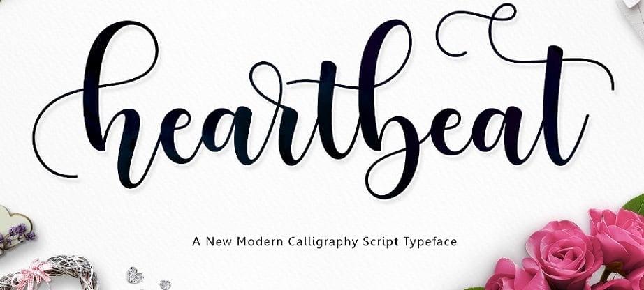 heartbeat handwritten fonts 2017