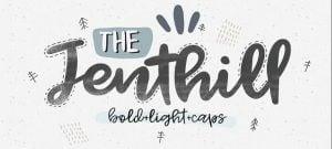 jenthill handwritten fonts 2017 inspiration