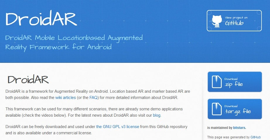 Augmented reality - DroidAR
