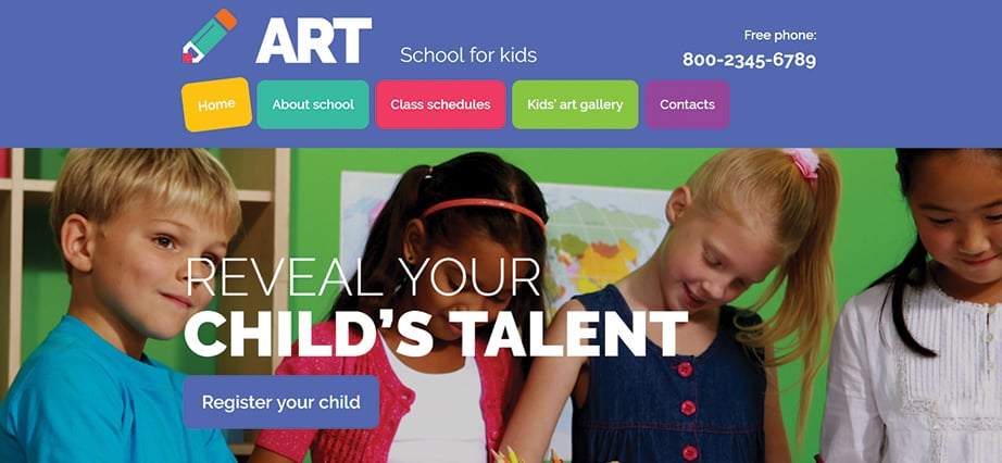 Best education website design - art center