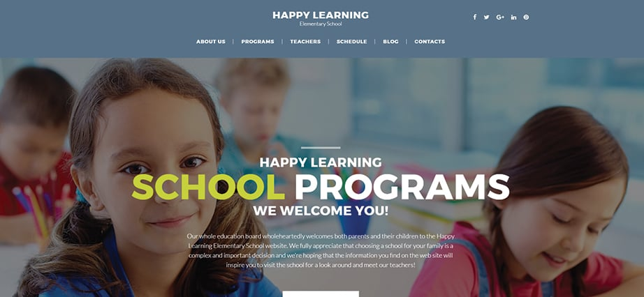Best education website design - happy learning