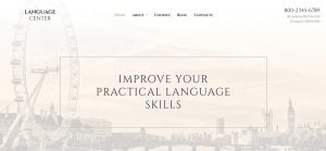 Best education website design - language center