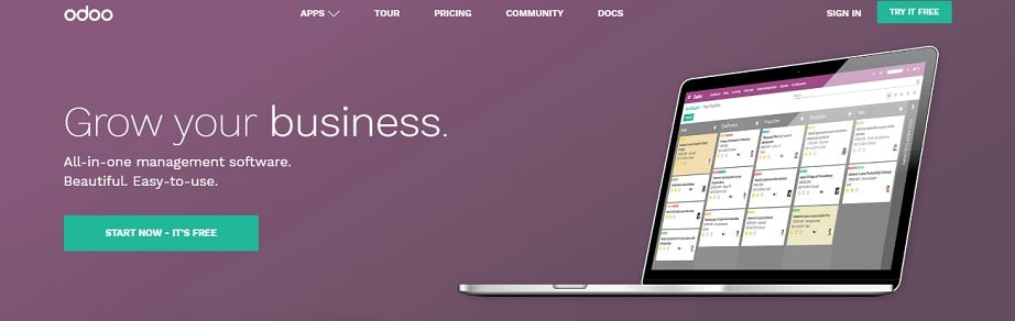 Best website builders for eCommerce 2017 - Odoo website