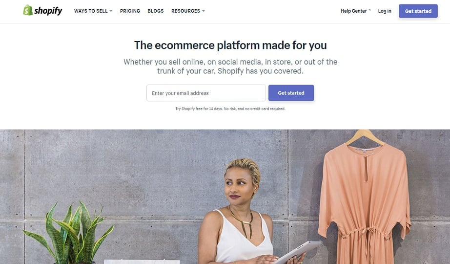 Best Website Builders for eCommerce 2017 - Shopify website
