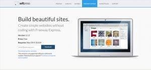 Free web design software for Mac - Freeway Express