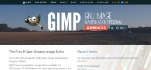 Free web design software for Mac - GIMP