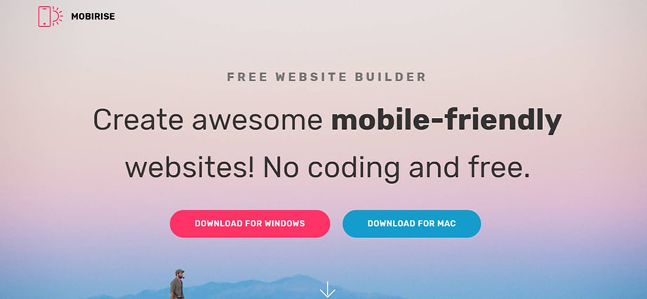 Free web design software for Mac - Mobirise