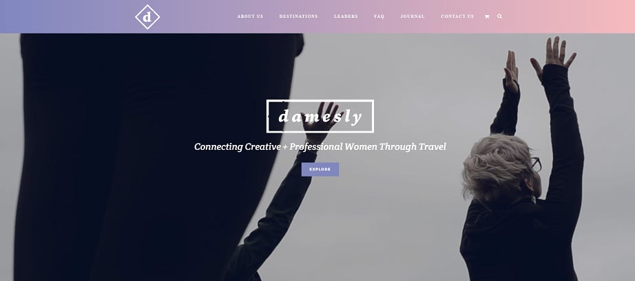How to design a travel website color scheme - damesly