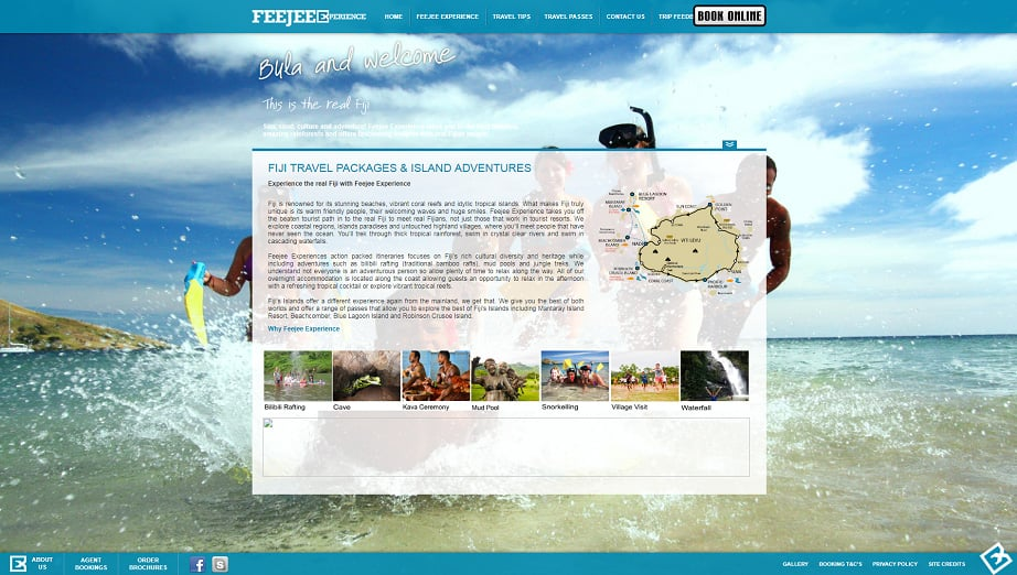 How to design a travel website color scheme - feejee