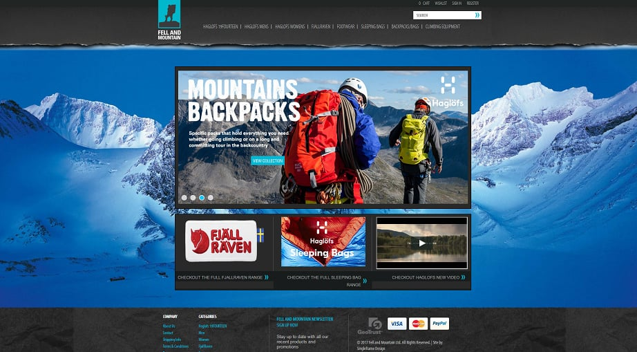 How to design a travel website color scheme - fell and mountain