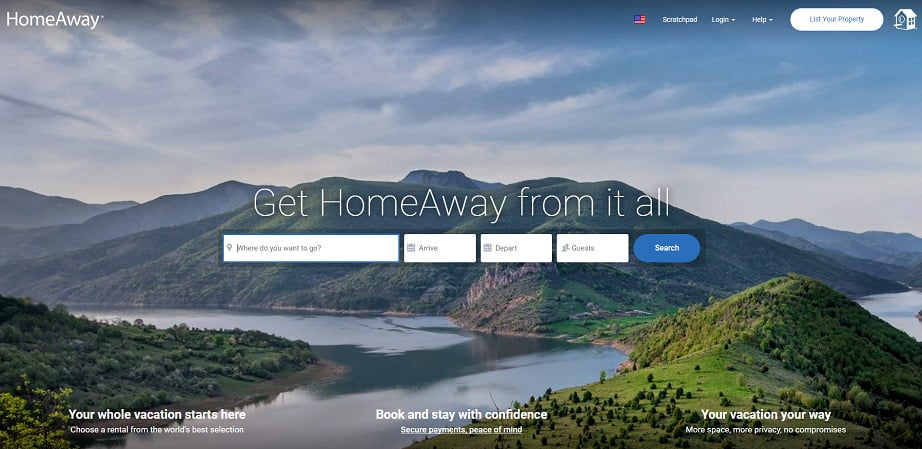 How to design a travel website color scheme - homeaway