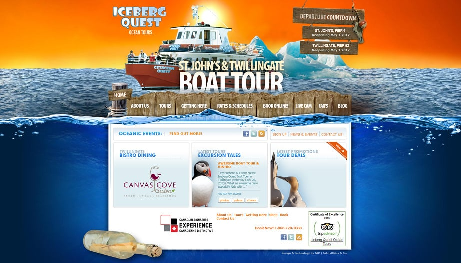 How to design a travel website color palette - iceberg quest