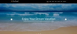 How to design a travel website color scheme - suntravel