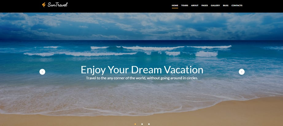 How to design a travel website color scheme - suntravel