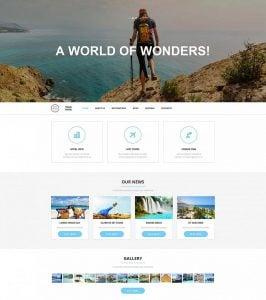 How to design a travel website color scheme - travel portal