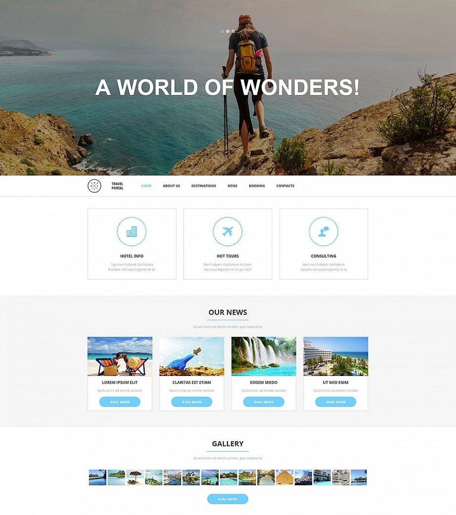 How to design a travel website color scheme - travel portal