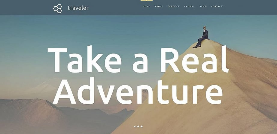 How to design a travel website color scheme - traveler