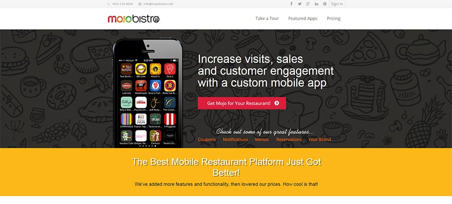 Phone apps - mojobistro