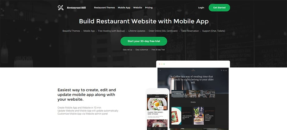 Phone apps - restaurant hill