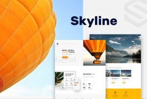 Skyline Business Template from MotoCMS - featured