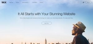 wix web builder for photographers