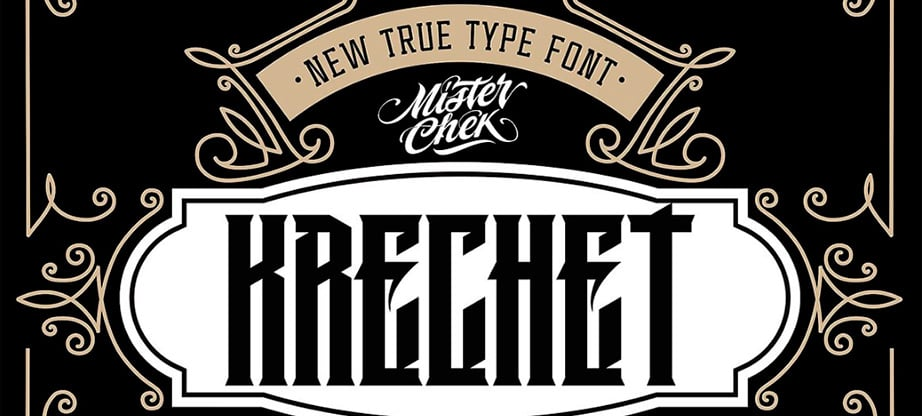 Krechet Font for rock bands
