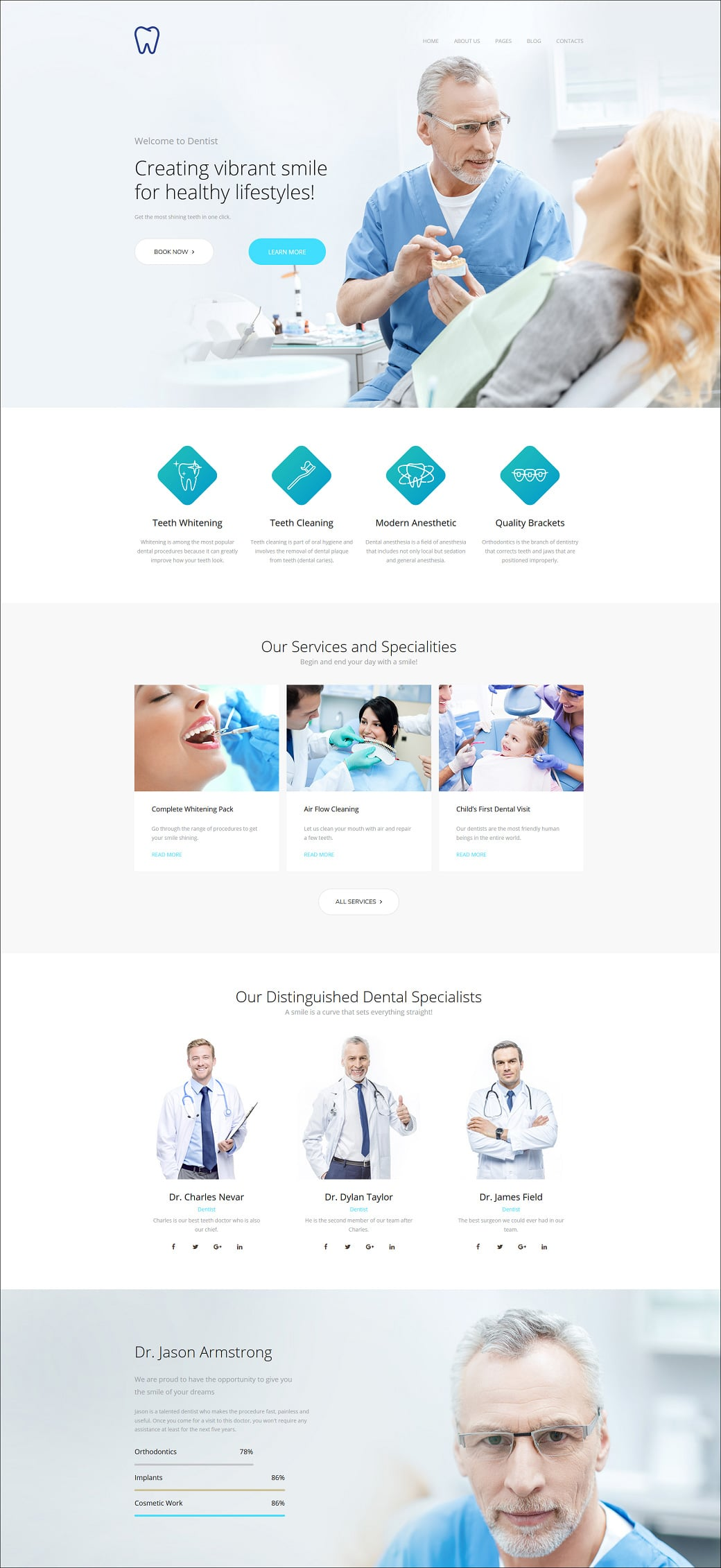 Skyline Business Website from MotoCMS - dentist extra home page