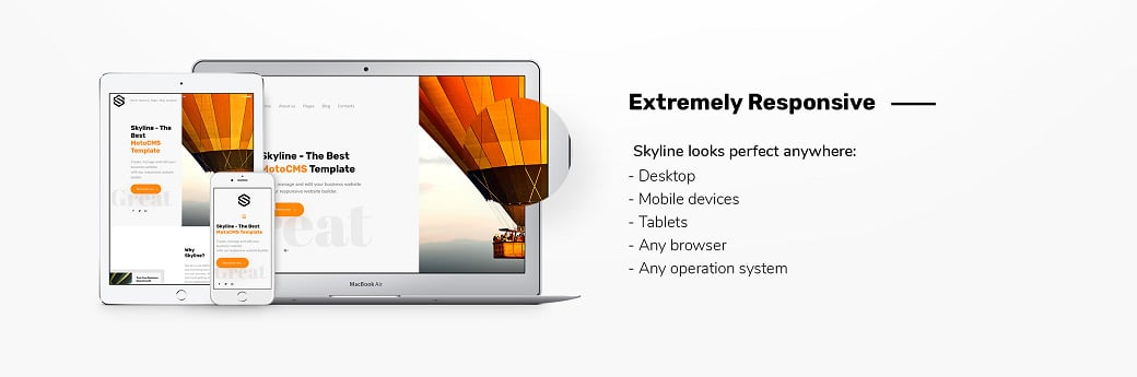 Skyline Business Website from MotoCMS - responsive