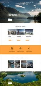 Skyline Business Website from MotoCMS - travel extra home page