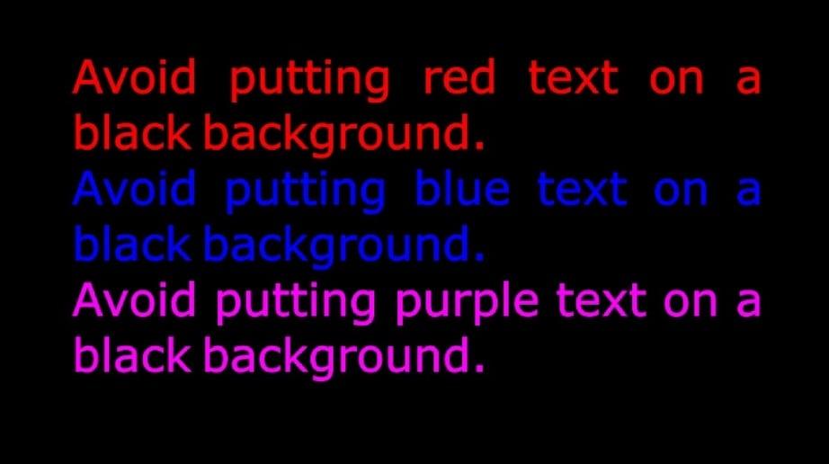website colors black