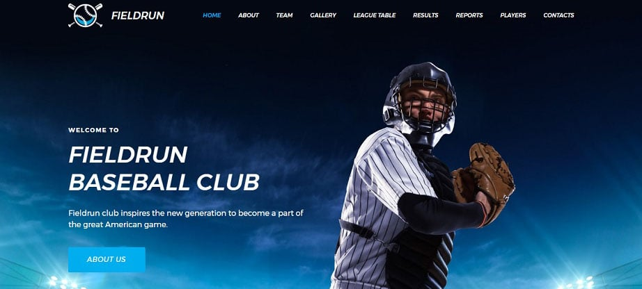 Baseball Club Premium Moto CMS 3 Template
