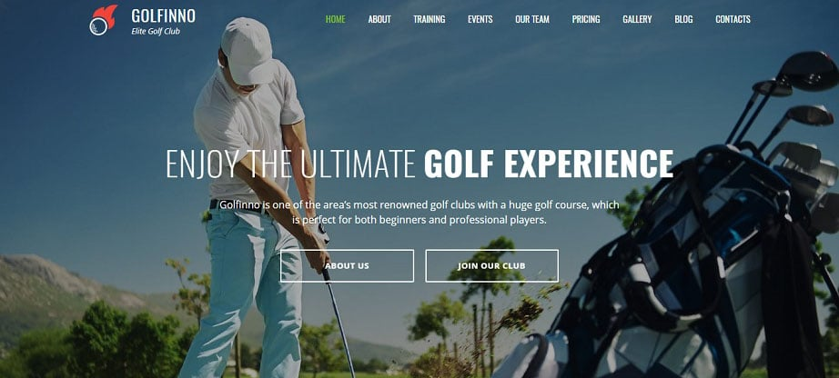 Golf Club Premium Moto CMS 3 Template