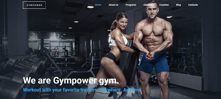 Gympower - Fitness & Bodybuilding Website Design