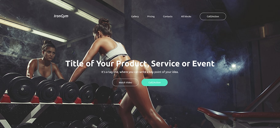 IronGym Sports Website Design