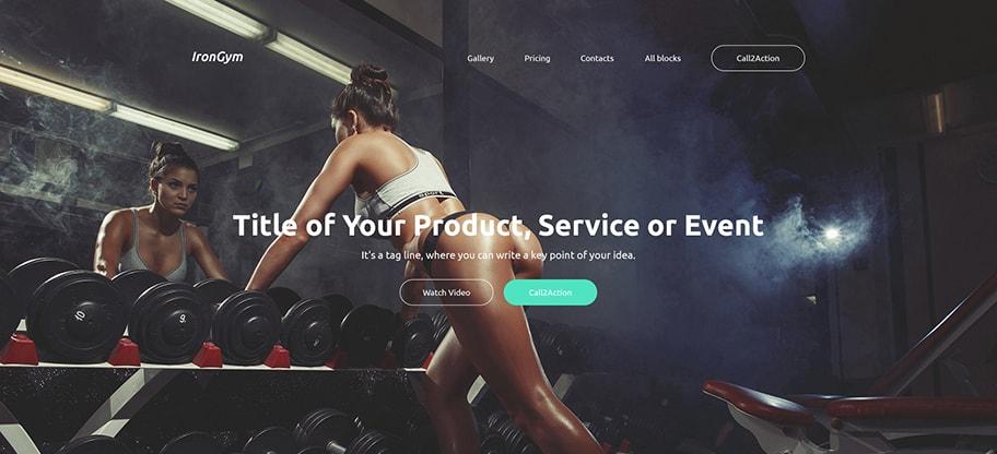 IronGym Sports Website Design