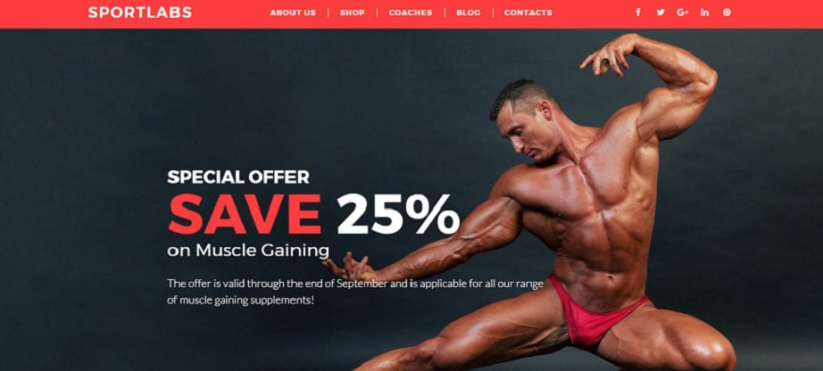 Sport Labs Ecommerce Website Template